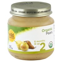 Wild Harvest Organic Baby Food - Stage 2 - Pears 4oz