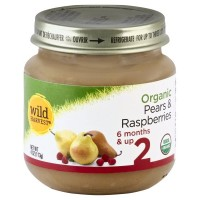 Wild Harvest Organic Baby Food - Stage 2 - Pears & Raspberries 4oz
