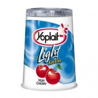 Yoplait Light Very Cherry Fat Free Yogurt 6 OZ
