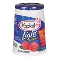 Yoplait Light Red Raspberry Fat Free Yogurt 6 OZ