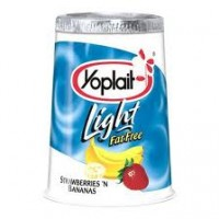 Yoplait Light Fat Free Yogurt Strawberries 'n Bananas 6 OZ