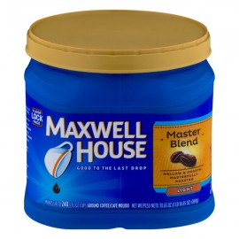Maxwell House Master Blend Light Ground Coffee ...